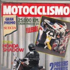 Motos: REVISTA MOTOCICLISMO Nº 1173 AÑO 1990. PRUEBA: HONDA VT 600 SHADOW. 25.000 KM CAGIVA FRECCIA 125. . Lote 151832646