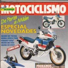 Motos: REVISTA MOTOCICLISMO Nº 1032 AÑO 1987. PRU: BMW K-7 KM. RACING: HONDA NSR R. SUZUKI RG 125 GAMMA. Lote 151835602