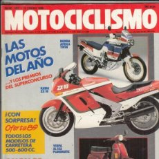 Motos: REVISTA MOTOCICLISMO Nº 1091 AÑO 1989. RACING: DUCATI SUPERBIKE 888 MISIL V-2.HONDA NSR 75 E.CASTRO.. Lote 151842254