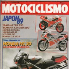 Motos: REVISTA MOTOCICLISMO Nº 1093 AÑO 1989. CONTACTO: HONDA VFR 400R. YAMAHA XT 600-JJ. . Lote 151844346