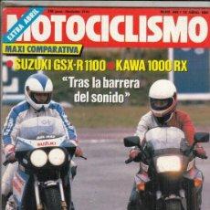 Motos: REVISTA MOTOCICLISMO Nº 948 AÑO 1986. COMP: KAWASAKI GPZ 1000 Y SUZUKI GSX R 750. CONT: ALFER 125 E.. Lote 151845954