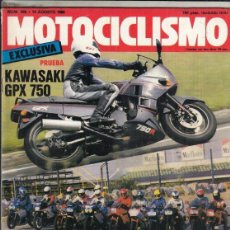Motos: REVISTA MOTOCICLISMO Nº 966 AÑO 1986. PRUEBA: KAWASAKI GPZ 750. COMPRATIVA 12 SUPERBIKES. . Lote 151847086