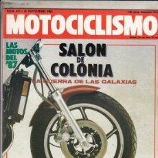 Motos: REVISTA MOTOCICLISMO Nº 972 AÑO 1986. RACING: YAMAHA OW 81/R.. Lote 151848894