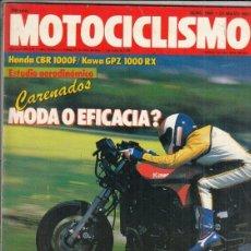 Motos: REVISTA MOTOCICLISMO Nº 1004 AÑO 1987. PRUEBA: VESPA 125 T-5 SPORT. COMP: KAWASAKI 1000 RX. Lote 151851478