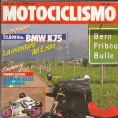 Motos: REVISTA MOTOCICLISMO Nº 1026 AÑO 1987. PRUEBA: BMW K 75 25.000 KM. RACING: HONDA RS 125 R. . Lote 151854294