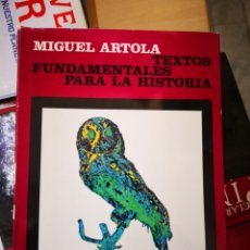 Motos: MIGUEL ARTOLA TEXTOS 1968 TEXTOS FUNDAMENTALES PARA LA HISTORIA-REVISTA DE OCCIDENTE. Lote 155094853