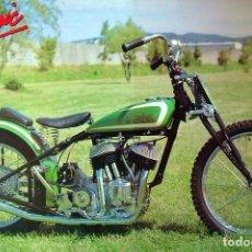 Motos: PÓSTER MOTOCICLETA CLÁSICA - 1938 INDIAN SCOUT (53 X 78 CM). Lote 29411805