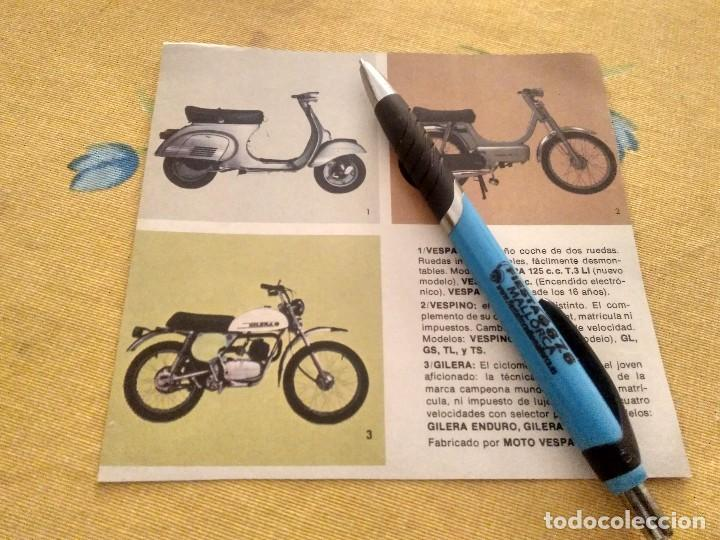 ANTIGUO ANUNCIO PUBLICIDAD REVISTA VESPA , VESPINO Y GILERA ESPECIAL PARA ENMARCAR (Coches y Motocicletas - Motocicletas Antiguas (hasta 1.939))