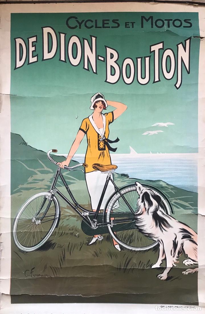 CARTEL POSTER PUBLICIDAD CICLES ET MOTOS GAILLARD PARIS AMIEN MUJER MODERNISTA 1920 FOURNER FRANCE (Coches y Motocicletas - Motocicletas Antiguas (hasta 1.939))