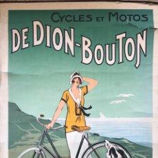 Motos: CARTEL POSTER PUBLICIDAD CICLES ET MOTOS GAILLARD PARIS AMIEN MUJER MODERNISTA 1920 FOURNER FRANCE. Lote 171785892