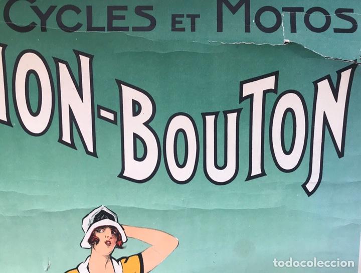 Motos: CARTEL POSTER PUBLICIDAD CICLES ET MOTOS GAILLARD PARIS AMIEN MUJER MODERNISTA 1920 FOURNER FRANCE - Foto 2 - 171785892