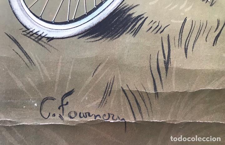 Motos: CARTEL POSTER PUBLICIDAD CICLES ET MOTOS GAILLARD PARIS AMIEN MUJER MODERNISTA 1920 FOURNER FRANCE - Foto 4 - 171785892
