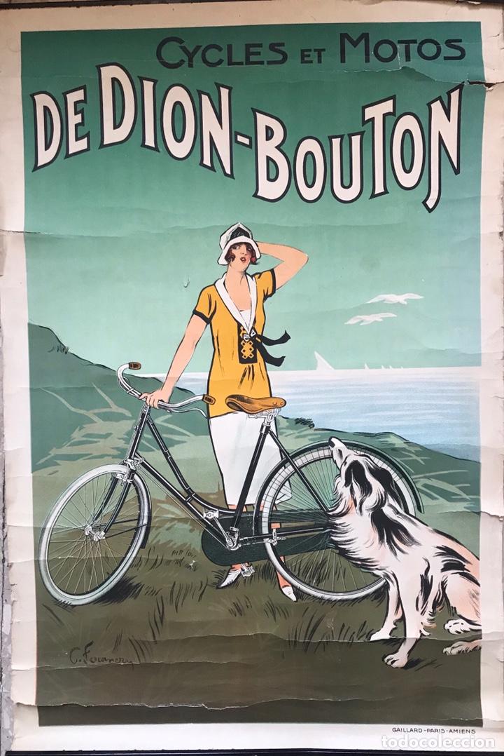 Motos: CARTEL POSTER PUBLICIDAD CICLES ET MOTOS GAILLARD PARIS AMIEN MUJER MODERNISTA 1920 FOURNER FRANCE - Foto 6 - 171785892