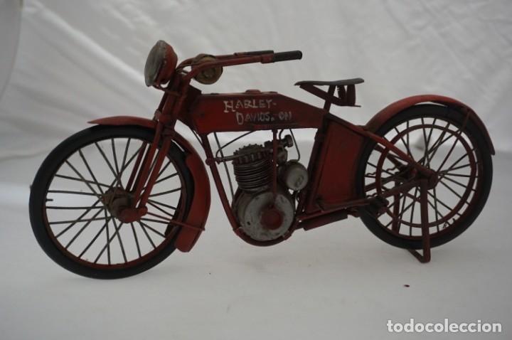 ANTIGUA MAQUETA HARLEY DAVISON / HIERRO (Coches y Motocicletas - Motocicletas Antiguas (hasta 1.939))