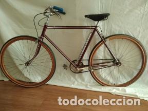 BICICLETA ANTIGUA RUEDAS MADERA (Coches y Motocicletas - Motocicletas Antiguas (hasta 1.939))