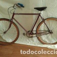 Motos: BICICLETA ANTIGUA RUEDAS MADERA. Lote 191608290