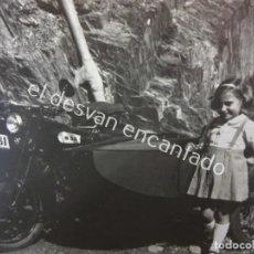 Motos: MOTOCICLETA SIDECAR BSA. MATRÍCULA BARCELONA. ANTIGUA FOTO TAMAÑO POSTAL. Lote 195869388
