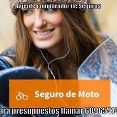 Motos: SE OFRECEN SEGUROS DE MOTO. Lote 203593401