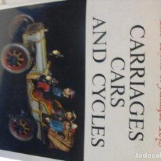 Motos: LIBRO DE JUGUETES ANTIGUOS CARUAGES CARROS Y MOTOS 220PG.. Lote 210521143
