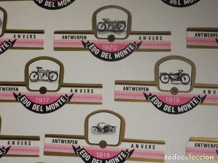 Motos: 24 Vitolas CIGARROS Puros - Cigar Bands - Serie - EDO DEL MONTE - MOTOCICLETAS ANTIGUAS - MUY RARA - Foto 2 - 212177451