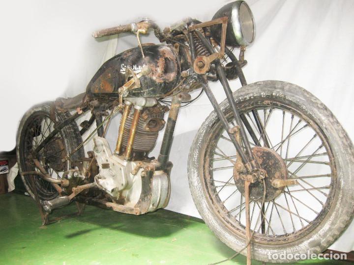 Motos: Motocicleta Saroléa de 1937. Herstal (Bélgica). - Foto 2 - 215869256