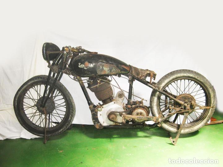 Motos: Motocicleta Saroléa de 1937. Herstal (Bélgica). - Foto 4 - 215869256