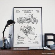Motos: HARLEY DAVIDSON CUADRO LAMINA ENMARCADA MOTO. Lote 222721645