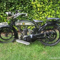Motos: MOTO BSA - L 23 FLAT TANKER - 350 CC - BIRMINGHAN - MATRICULA GE 7285 - RESTAURADA - AÑO 1923. Lote 224895951