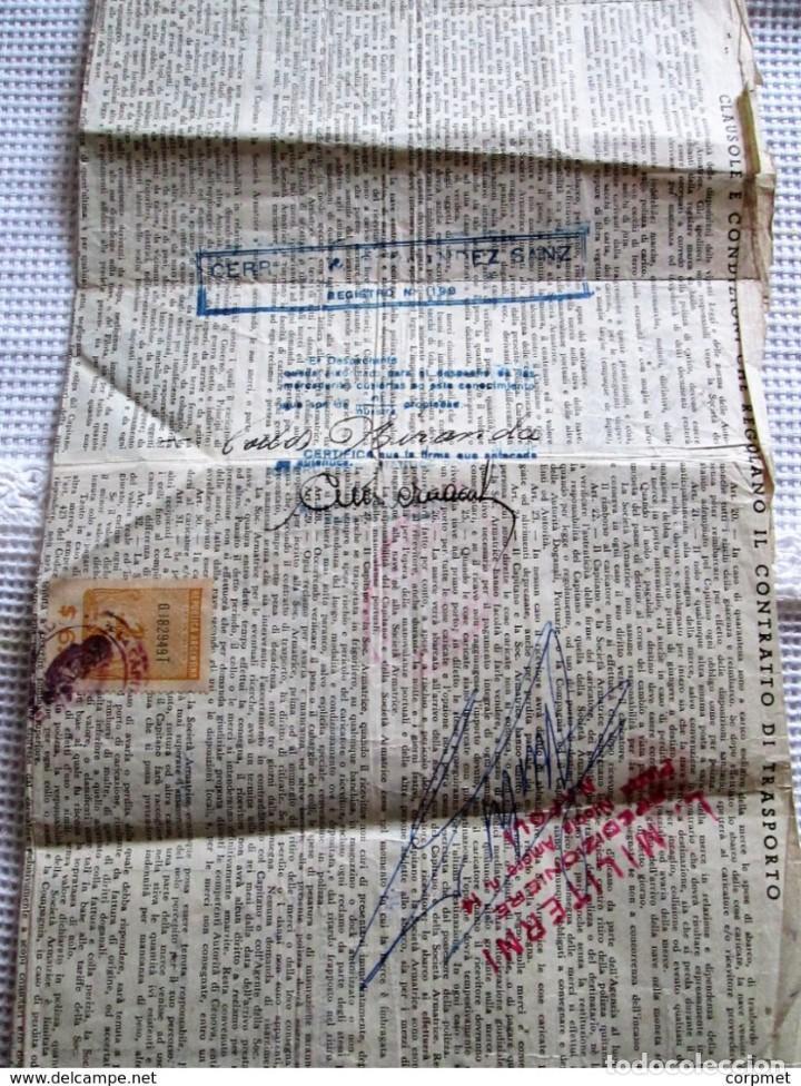 Motos: MOTOCICLO VESPA 1959 PASAJE MARITIMO DE TRANSPORTE - NAPOLES a BUENOS AIRES - PORTA PASAJE DE PIEL - Foto 8 - 283182143