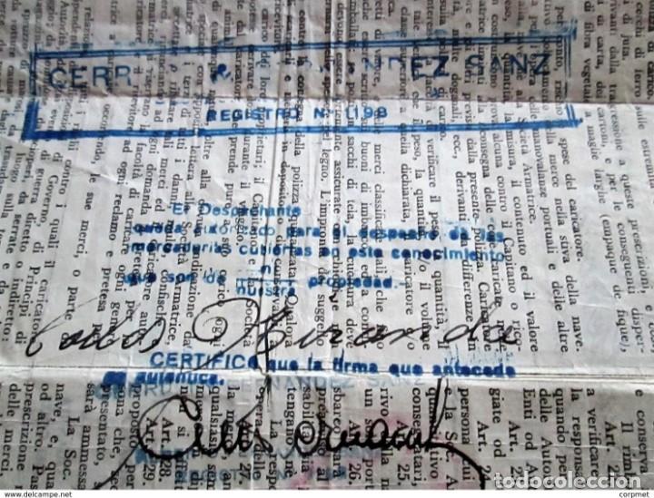 Motos: MOTOCICLO VESPA 1959 PASAJE MARITIMO DE TRANSPORTE - NAPOLES a BUENOS AIRES - PORTA PASAJE DE PIEL - Foto 10 - 283182143