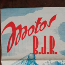 Motos: BJR MOTOS CATÁLOGO DIPTICO. Lote 284329243