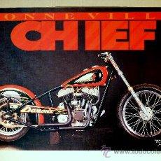 Motos - Póster Moto Clásica - Bonneville Chief (53 x 78 cm) - 29413365