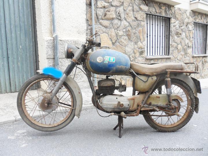 Motos: MOTOCICLETA BULTACO 155 EN ESTADO ORIGINAL. 153 CMS CUBICOS. 2 MODELO DE LA CASA BULTACO. AÑOS 60 - Foto 2 - 50053440
