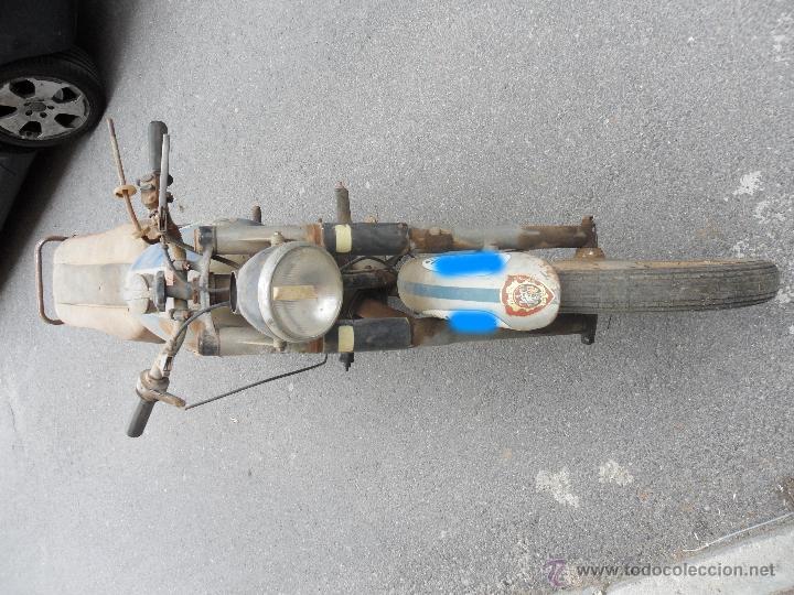 Motos: MOTOCICLETA BULTACO 155 EN ESTADO ORIGINAL. 153 CMS CUBICOS. 2 MODELO DE LA CASA BULTACO. AÑOS 60 - Foto 3 - 50053440