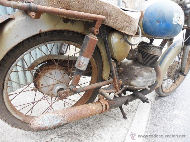 Motos: MOTOCICLETA BULTACO 155 EN ESTADO ORIGINAL. 153 CMS CUBICOS. 2 MODELO DE LA CASA BULTACO. AÑOS 60 - Foto 5 - 50053440