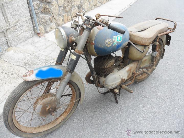 Motos: MOTOCICLETA BULTACO 155 EN ESTADO ORIGINAL. 153 CMS CUBICOS. 2 MODELO DE LA CASA BULTACO. AÑOS 60 - Foto 7 - 50053440