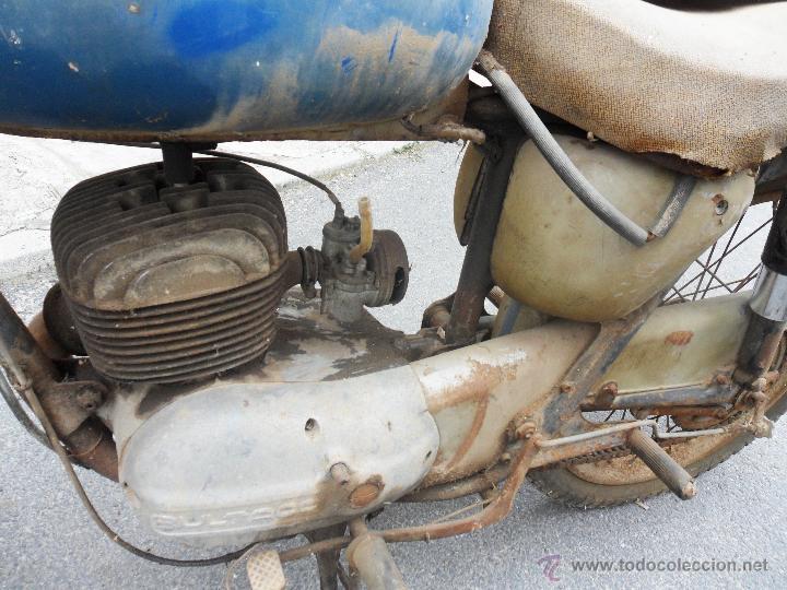 Motos: MOTOCICLETA BULTACO 155 EN ESTADO ORIGINAL. 153 CMS CUBICOS. 2 MODELO DE LA CASA BULTACO. AÑOS 60 - Foto 8 - 50053440