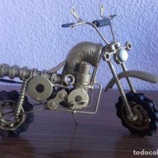 Motos: MOTOCICLETA REALIZADA A MANO CON PRODUCTOS RECICLADOS. TODO LUJO DE DETALLES. Lote 72741799