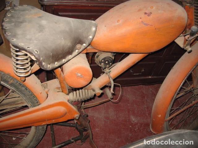 Motos: Antigua moto Guzzi color naranja cambio manual, para restaurar. - Foto 3 - 82758576