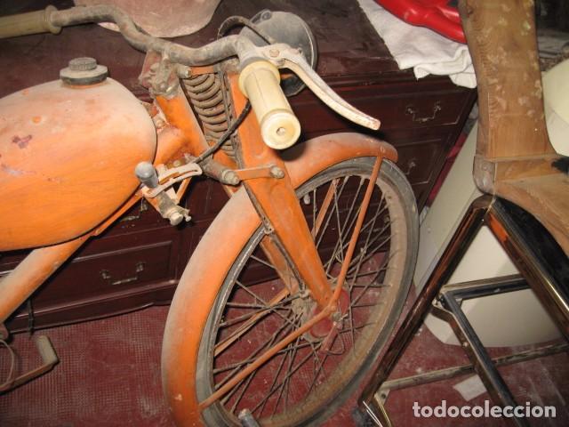Motos: Antigua moto Guzzi color naranja cambio manual, para restaurar. - Foto 4 - 82758576
