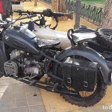 Motos: MOTO CON SIDECAR DNEPR-URAL K 750, REPLICA DE BMW R75 ALEMANA, COLOR GRIS, MATRICULADA. Lote 85048084