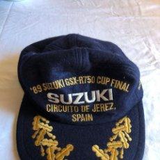 Motos: GORRA SUZUKI GSX-R750 CUP FINAL CIRCUITO DE JEREZ AÑO 1989. Lote 103389743