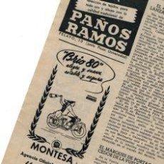 Motos: MONTESA BRIO 80 RECORTE DE PRENSA CON ANUNCIO PUBLICIDAD ORIGINAL . Lote 109488091