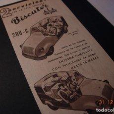 Motos: BISCUTER DISTRIBUIDOR UTILAUTO ANUNCIO PUBLICIDAD ORIGINAL 1956 RARO. Lote 109526047