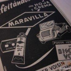 Motos: BISCUTER ANUNCIO PUBLICIDAD ORIGINAL 1955 SE OFRECIA COMO REGALO PROMOCIONAL. Lote 109526135