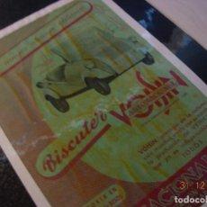 Motos: BISCUTER VOISIN ANUNCIO PUBLICIDAD ORIGINAL 1959 DISTRIBUIDOR AUTONACIONAL GIRONA MUY DIFICIL. Lote 109526319