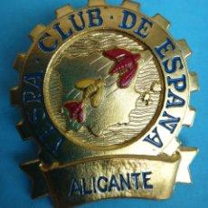 Motos: CHAPA PUBLICIDAD MOTO VESPA , CLUB DE ESPAÑA , ALICANTE , ORIGINAL , C4. Lote 144140501
