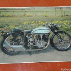 Motos: FOTO - CARTEL, MOTOCICLETA NORTON, TAMAÑO DE 45 CM X 32 CM. Lote 141340032