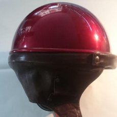 Motos: CASCO MOTO ANTIGUO COLOR MUY BONITO. Lote 142396826