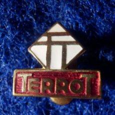 Motos: INSIGNIA PARA OJAL DE SOLAPA - TERROT - MOTOCICLETAS, CICLOMOTORES, MOTOS, - AÑOS 60. Lote 147794550